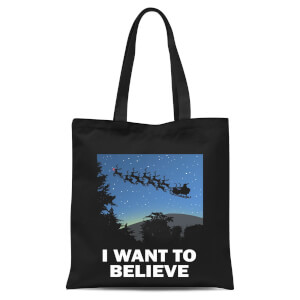I Want To Believe Tote Bag - Black