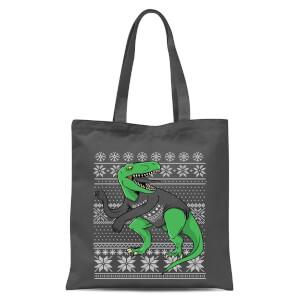 T-Rex Sleeves Tote Bag - Grey