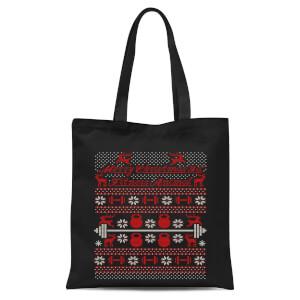 Merry Christmas Ya' Fitness Animal Tote Bag - Black