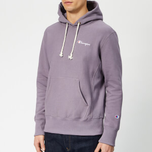 Champion Men's Small Script Overhead Hoodie - Purple