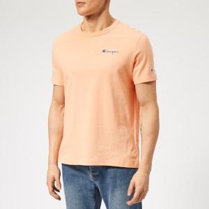 Champion Men's Small Script T-Shirt - Peach