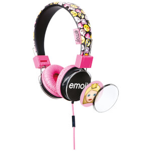 Emoji Flip N Switch Wired Headphones - Pink