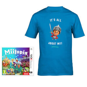 Miitopia + All About Mii T-Shirt (Blue)