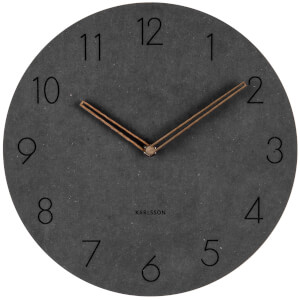 Karlsson Wall Clock Dura Korean Wood - Black