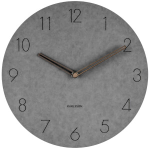 Karlsson Wall Clock Dura Korean Wood - Light Grey