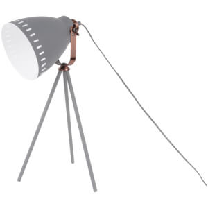 Leitmotiv Mingle 3 Legs Table Lamp - Metal Grey/Copper