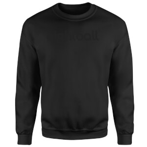 Ei8htball Chest Print Sweatshirt - Black