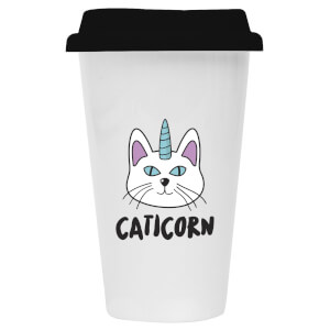 Caticorn Ceramic Travel Mug