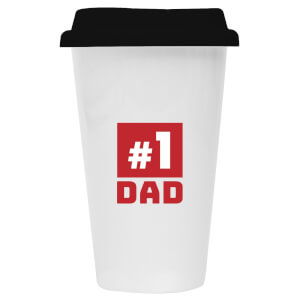 #1 Dad Ceramic Travel Mug