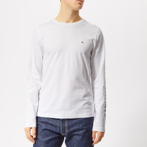 Tommy Hilfiger Men's Tommy Logo Long Sleeve T-Shirt - Bright White