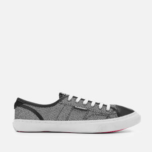Superdry Women's Low Pro Luxe Trainers - Silver Glitter Mesh