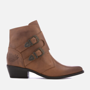 Superdry Women's Rodeo Monk Heeled Ankle Boots - Tan
