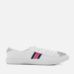 Superdry Women's Low Pro Luxe Trainers - White Glitter Tape