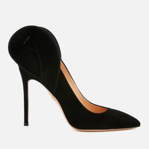 Charlotte Olympia Women's Blake Satin and Suede Court Shoes - Black