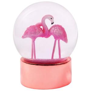 Sunnylife Flamingo Glitter Globe
