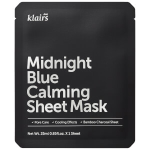 Dear, Klairs Midnight Blue Calming Sheet Mask maska w płachcie 25 ml