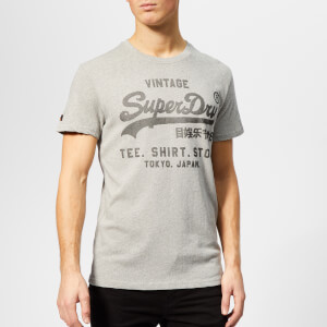 Superdry Men's Shirt Shop Feeder T-Shirt - Optic Grey Feeder Grit