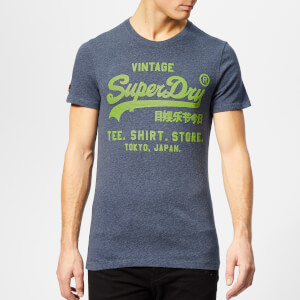 Superdry Men's Shirt Shop Feeder T-Shirt - Royal Blue Feeder