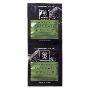 APIVITA Express Deep Cleansing Face Mask - Green Clay 2 x 8 ml