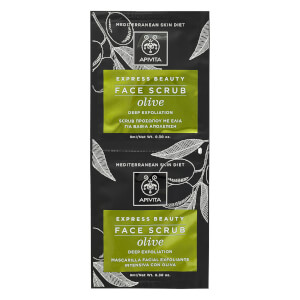 APIVITA Express Face Scrub for Deep Exfoliation - Olive 2 x 8 ml