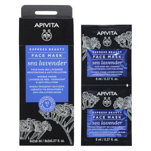 APIVITA Express Moisturizing Face Mask - Sea Lavender 2 x 8 ml