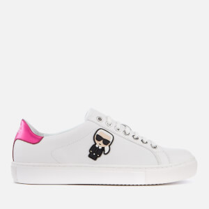 Karl Lagerfeld Women's Kupsole Karl Ikonik Leather Trainers - White/Pink