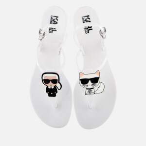 Karl Lagerfeld Women's Jelly Karl Ikonic Sling Sandals - White