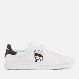125e92e54e4 Karl Lagerfeld Men s Kourt Karl Ikonik Leather Cupsole Trainers - White