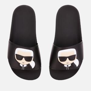 Karl Lagerfeld Women's Kondo Karl Ikonic Slide Sandals - Black