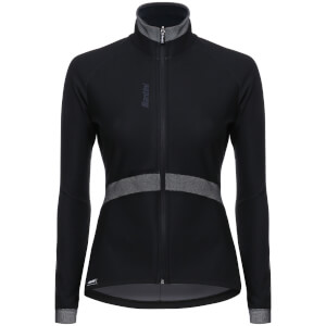 Santini Women's Passo Winter Windstopper Jacket - Black