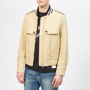 JW Anderson Men's Ribbed Collar Blouson - Beige