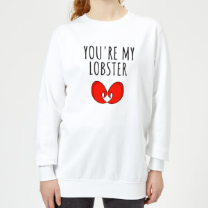 Be My Pretty You're My Lobster Women's Sweatshirt - White