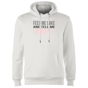 Big and Beautiful Feed Me Cake Hoodie - White