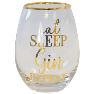 Eat Sleep Gin Repeat Glass Tumbler