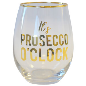 It's Prosecco O'Clock Glass Tumbler