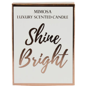 Shine Bright Candle in Gift Box - Rose Gold and Mimosa Scent