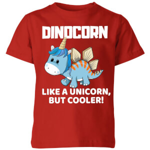 Big and Beautiful Dinocorn Kids' T-Shirt - Red