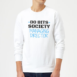 Big and Beautiful Do Bits Managing Director Sweatshirt - White