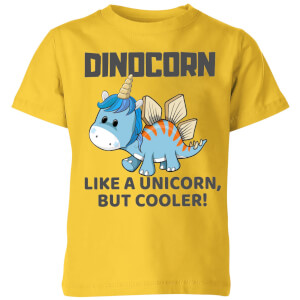 Big and Beautiful Dinocorn Kids' T-Shirt - Yellow