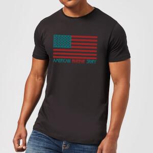 American Horror Story Colour Flag Skulls Herren T-Shirt - Schwarz
