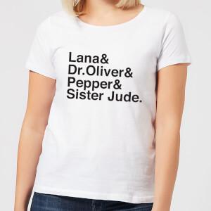 T-Shirt Femme Asylum Personnages - American Horror Story - Blanc