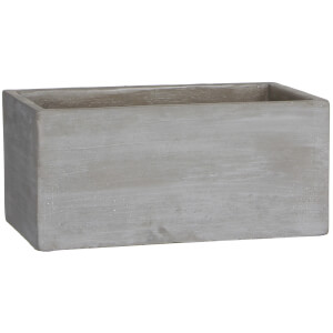 Cliff Rectangle Pot - Beige