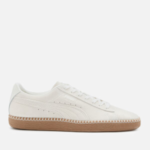 Puma Men's Blanket Stitch Suede Classic Trainers - Whisper White/Gum