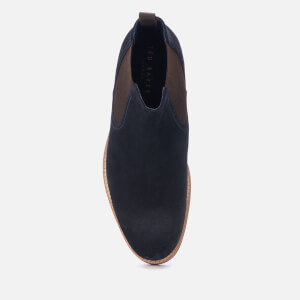 Ted Baker Men's Secaint Suede Chelsea Boots - Dark Blue: Image 3