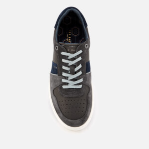 Ted Baker Men's Maloni Suede Low Top Trainers - Dark Grey: Image 3