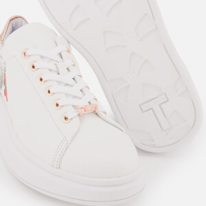 Ted Baker Women's Ailbe 3 Leather Flatform Trainers - White Narnia: Image 4