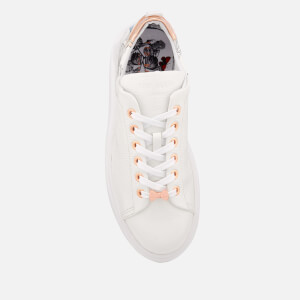 Ted Baker Women's Ailbe 3 Leather Flatform Trainers - White Narnia: Image 3