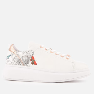 Ted Baker Women's Ailbe 3 Leather Flatform Trainers - White Narnia: Image 1