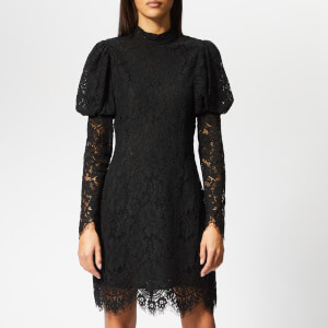 Ganni Women's Everdale Lace Dress - Black