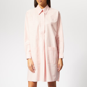 Ganni Women's Weston Shirt Dress - Silver Pink